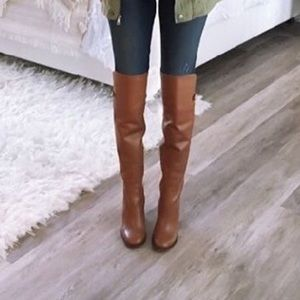 Black Chic Versatile Over The Knee Cuffed Boots